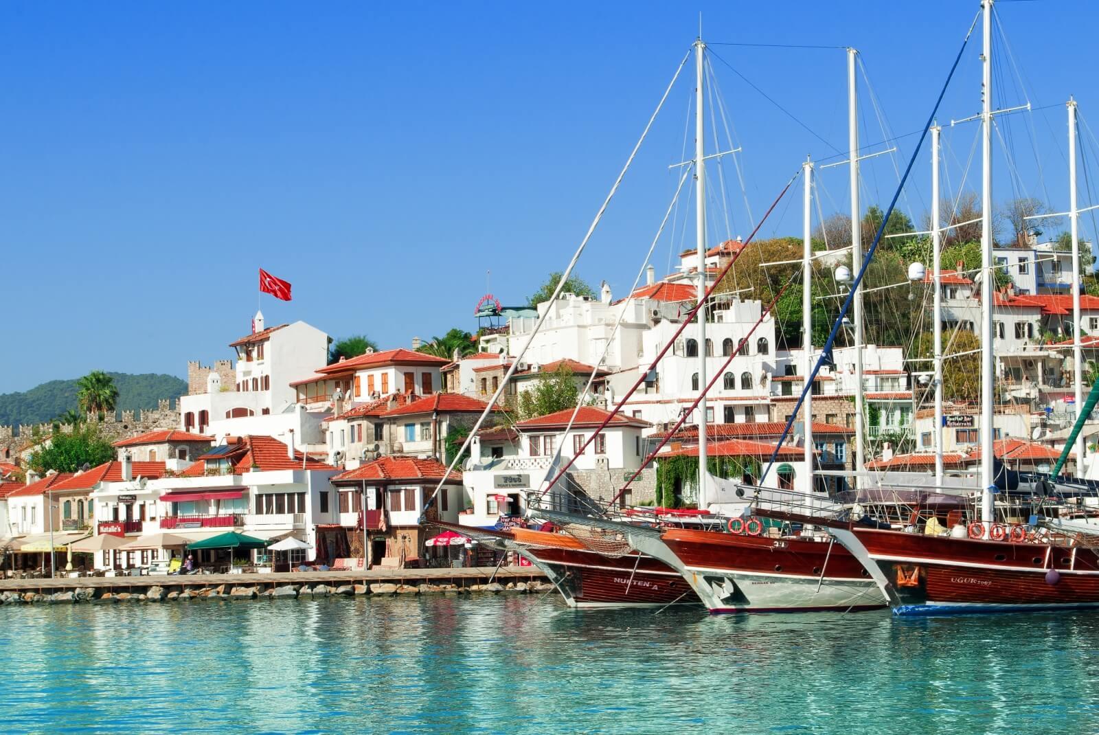 Фото порта в Мармарисе Турция