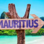 Вывеска с надписью Маврикий