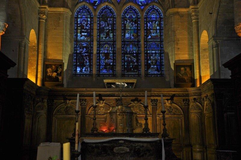 Церковь святого Мартина в Лондоне внутри витраж