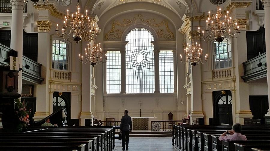 Церковь святого Мартина в Лондоне внутри