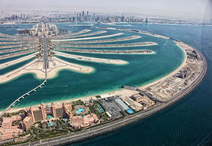 Фото искусственный остров Palm Jumeirah