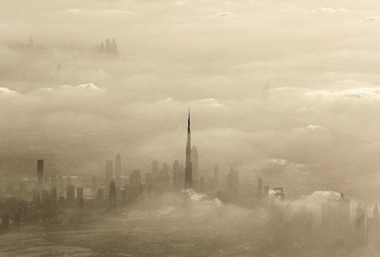 Песчаная буря в ОАЭ